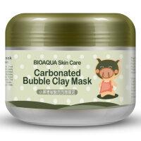 Глиняно-пузырьковая маска для лица Carbonated Bubble Clay Mask  BIOAQUA 100 гр
