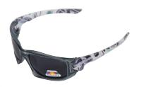 Очки для рыбалки XTRO, поляризационные линзы темно синие, оправа серая, без футляра (K604)