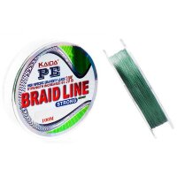 Шнур плетеный KAIDA BRAID LINE strong зеленый 0.14 мм 6.7 кг