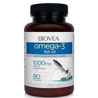 Omega-3 1000 мг 60 гелевых капсул Biovea