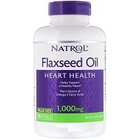 Flaxseed Oil 1000 мг 50 гелевых капсул Natrol