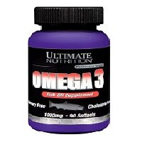 Omega-3 1000  мг 90 гелевых капсул Ultimate Nutrition
