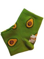 Носки женские с желтым авокадо SYLTAN зеленые  размер 37-41 арт 2126