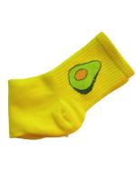 Носки женские с авокадо Nice Sokcs желтые размер 36-41