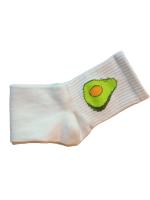 Носки женские с авокадо Nice Sokcs белые размер 36-41