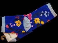 Носки женские с цветком AMIGOBS синие размер 35-40