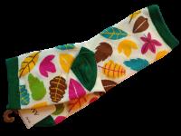 Носки женские с листвой AMIGOBS белые размер 35-40