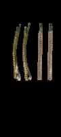 Заколки для волос невидимки Dualaimei Розовые 4 шт
