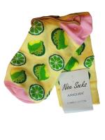 Носки женские с лимоном Nice Sokcs желтые размер 36-41