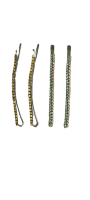 Заколки для волос невидимки Dualaimei Зеленые 4 шт