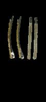 Заколки для волос невидимки Dualaimei Белые 4 шт