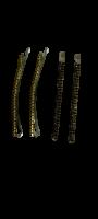 Заколки для волос невидимки Dualaimei Черные 4 шт