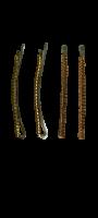 Заколки для волос невидимки Dualaimei Красные 4 шт