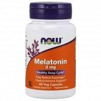 Melatonin 3 mg  60 капсул NOW