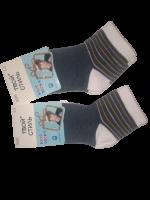 Носки детские 2 пары размер 12-16 Твой стиль № 3026 Синие с полосками