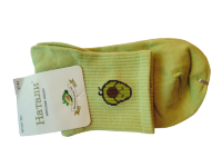 Носки женские с авокадо Натали светло-зеленые размер 37-41