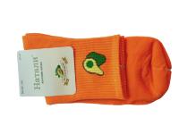 Носки женские с авокадо Натали оранжевые размер 37-41