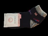 Набор носков детских с машинкой 2 пары Корона черные размер 21-26