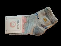 Набор носков детских с машинкой 2 пары Корона светло-серые размер 21-26