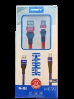 Кабель для зарядки и передачи данных USB - MICRO USB 3A 1 метр SA-002