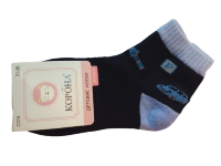 Набор носков детских с машинкой 2 пары Корона темно-синие размер 21-26