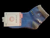 Набор носков детских с машинкой 2 пары Корона синие размер 21-26
