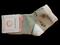 Набор носков детских с машинкой 2 пары Корона светло-коричневые размер 21-26