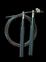 Скакалка Jump Rope Cross Training Aluminium SPF Fitness цвет Черный