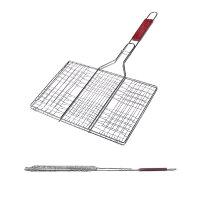 Решетка гриль FORSTER 23*33*55 см, объемная, дерев. ручка