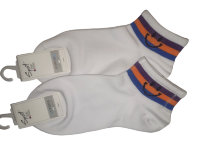 Набор носков  2 пары размер 37-41 Корона № 215 Белые с оранжевым