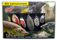 Набор блесен Kit Carnassier на хищную рыбу MEPPS 6 шт