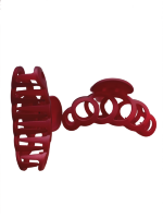 Заколка Краб № 2, 8 см Duolaimei 2 шт цвет красный