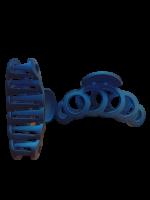 Заколка Краб №2, 8 см Duolaimei 2 шт цвет синий