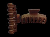 Заколка Краб № 3, 8 см Duolaimei 2 шт  цвет коричневый