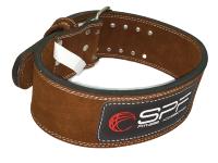 Пояс для пауэрлифтинга коричневый HSF-400 SPF Fitness размер XL