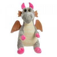 Мягкая игрушка Дракон серый To-ma-to  25 см DL-04301-Grey