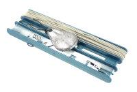 Удочка донная ГРАНТ оснащенная, d 1,5 мм 10 м., леска 50 м., крючки 5 шт., кольцо заводное 5 шт. с грузом