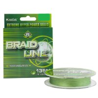 Шнур плетеный KAIDA BRAID LINE зеленый 0.22 мм 15.8 кг 135 метров