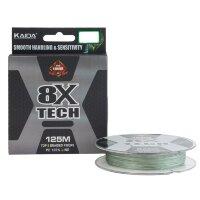 Шнур плетеный KAIDA 8X Tech зеленый 0.18 мм 12.0 кг