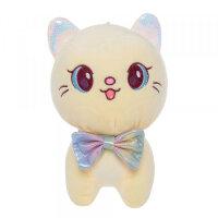 Мягкая игрушка Кошка желтая To-ma-to  22 см DL-04804-Yellow