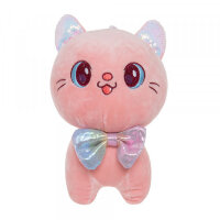 Мягкая игрушка Кошка розовая To-ma-to  22 см DL-04804-Rose