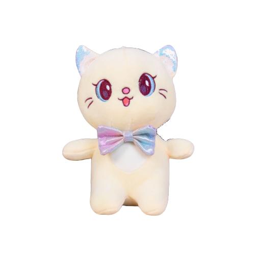 Мягкая игрушка Кошка желтая To-ma-to  22 см DL-06102-Yellow
